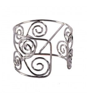 Bracelet silvery Metal - Triple swirl
