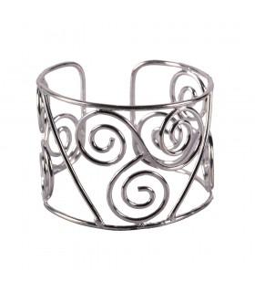 Armband-silbrigen Metall - dreifach Wirbel