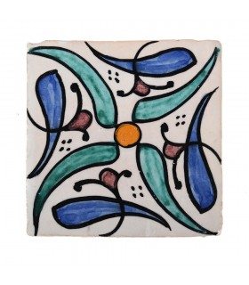 Al-Andalus - 14,5 cm - several designs - handcrafted tile - model 14
