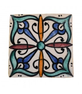 Al-Andalus - 10 cm - several designs - handcrafted tile - model 15