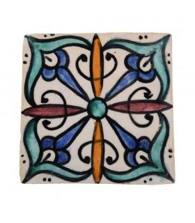 Azulejo Andalusí - 10 cm - Varios Diseños- Artesanal- Modelo 15