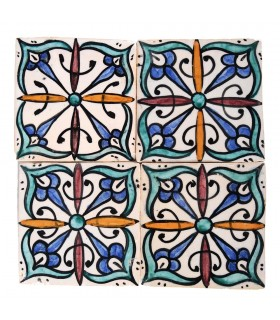 Al-Andalus - 14,5 cm - several designs - handcrafted tile - model 15