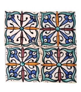 Al-Andalus - carrelage artisanal 14,5 cm - plusieurs motifs - - modèle 15