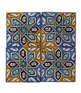 Al-Andalus - 14,5 cm - several designs - handcrafted tile - model 17