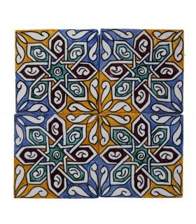 Al-Andalus - piastrelle artigianali di 14,5 cm - parecchi disegni - - modello 17