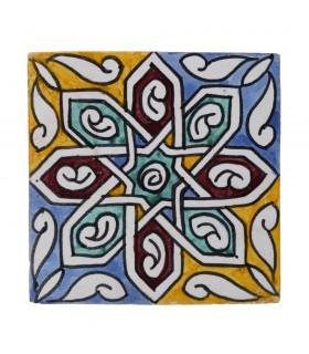 Al-Andalus - carrelage artisanal 14,5 cm - plusieurs motifs - - modèle 17