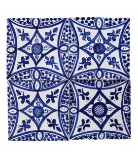 Al-Andalus - telha artesanal de 14,5 cm - vários modelos - - modelo 18