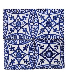 Al-Andalus - 14,5 cm - verschiedene Designs - handgefertigte Tile - Modell 18
