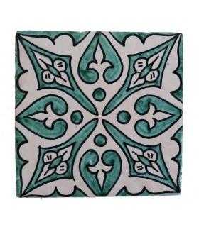 Azulejo Andalusí - 10 cm - Varios Diseños- Artesanal- Modelo 19