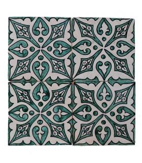 Azulejo Andalusí - 14,5 cm - Varios Diseños- Artesanal- Modelo 19
