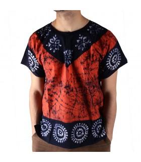 T-Shirt Baumwolle Sommer - helle Farben - 100 % Handwerk - Neuheit