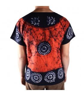 Artisanat 100 % à - couleurs vives - summer T-Shirt coton - nouveauté