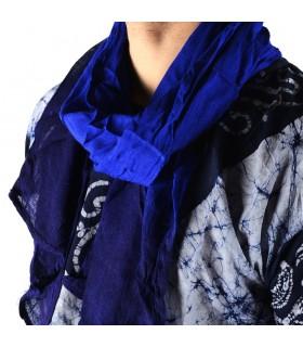 Sommer-Schal Stil Tuareg - 100 % Baumwolle - verschiedene Farben - 150 cm