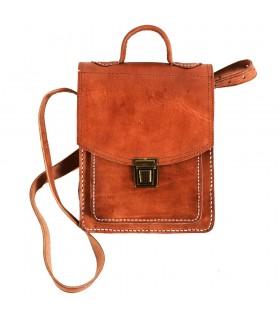 En cuir portefeuille d'artisan - grande qualité - 2 compartiments - 27 cm