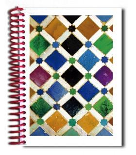 Réservez la conception mosaïque - Souvenir arabe - taille A5 - 100 feuilles