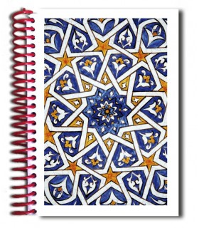 Libreta Diseño Mosaico - Souvenir Arabe - Tamaño A5 - 100 Hojas