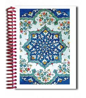 Книга дизайн мозаика - сувенир Арабский - размер A6 - 100 листов