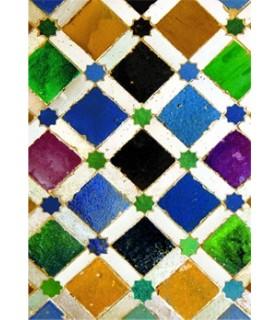 Modelo de postal mosaico árabe - lembrança Granada - 1