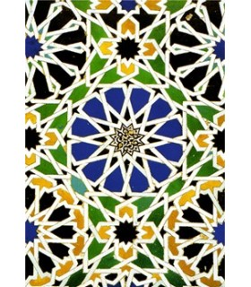Modelo de postal mosaico árabe - lembrança Granada - 4
