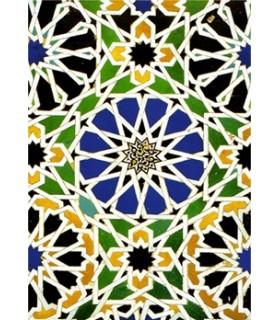 Postal mosaic Arabic - Souvenir Granada - model 4