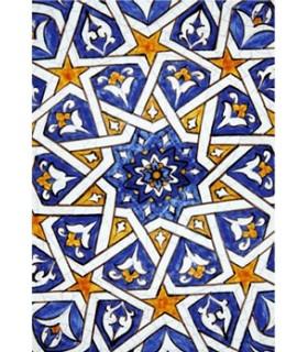 Postal Mosaico Árabe - Souvenir Granada - Modelo 5