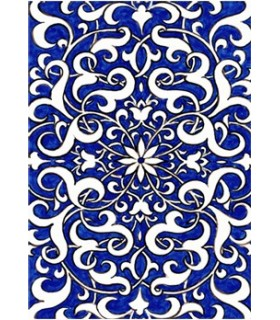 Postal Mosaico Árabe - Souvenir Granada - Modelo 6