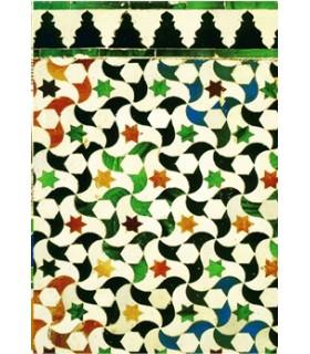 Postal mosaico árabe - lembrança Granada - modelo 8