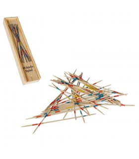 En bois Mikado - boîte en bois - couvercle coulissant - 19 cm