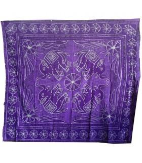 Ткань хлопок шерсть Индия - слоны цветочно - ремесленника-240 x 210 см