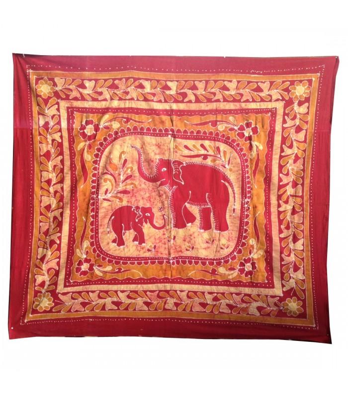 Tela Algodon-India- Familia Elefante-210 x 240 cm