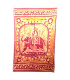 Inde-Cotton- Maharaja éléphant-Artisan-140 x 210 cm