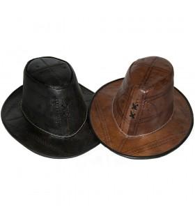 Шляпа ручной работы кожаные - гравировка - 2 цвета - один размер