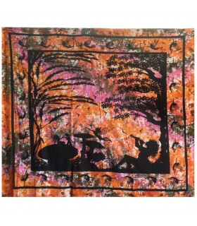 Tessuto India enchanted forest - 240 x 210 cm