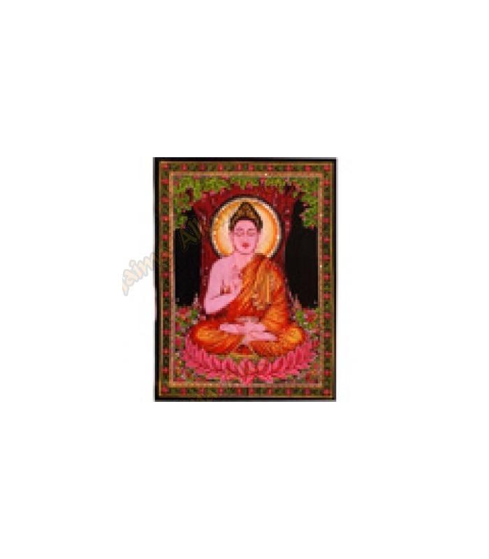 Fabric cotton India - Buddha - artisan-75 x 110 cm