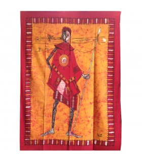 Tessuto cotone India-Cazador Masai - artigiano-140 x 210 cm