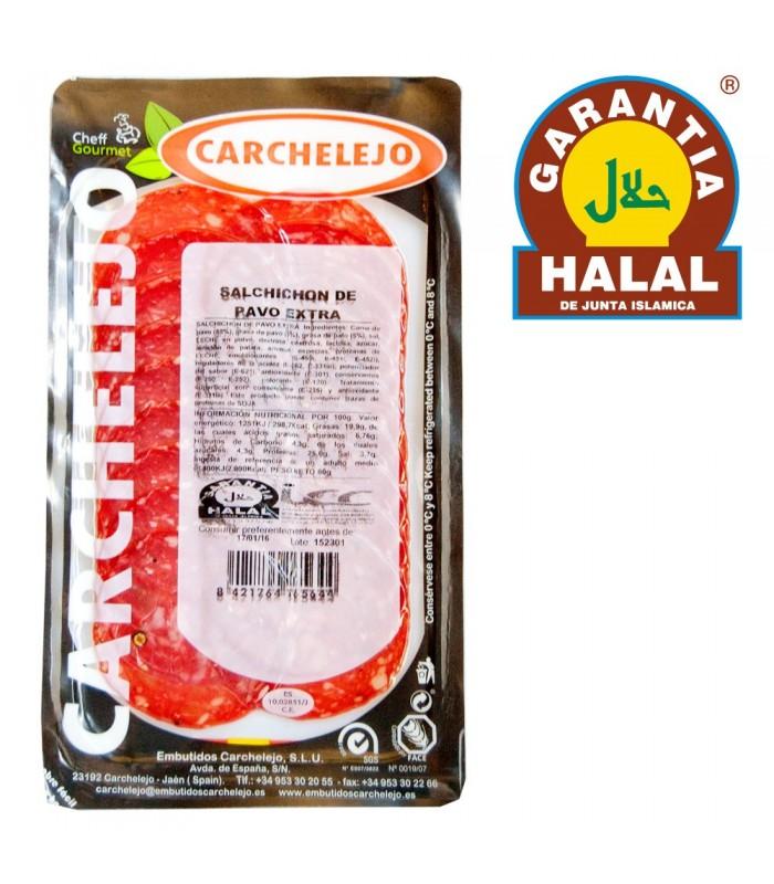 Salami de Pavo Extra 80 gr - Gourmet - Halal - Carchalejo