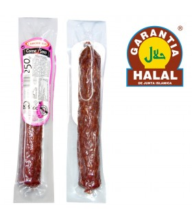 Salchichón de Pavo Extra 250 gr - Gourmet - Halal - Carchelejo