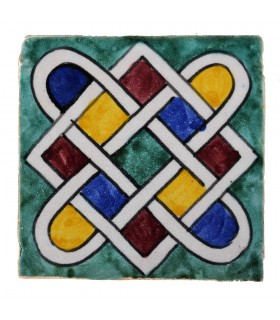 Al-Andalus - 10 cm - several designs - handcrafted tile - model 20