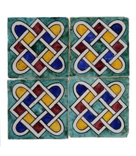 Al-Andalus - carreaux faits à la main 10 cm - plusieurs motifs - - modèle 20