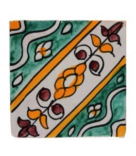 Al-Andalus - carreaux faits à la main 10 cm - plusieurs motifs - - modèle 21