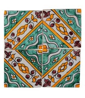 Al-Andalus - piastrelle artigianali di 10cm - parecchi disegni - - modello 21