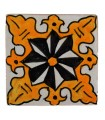 Al-Andalus - 10 cm - verschiedene Designs - handgefertigte Tile - Modell 22