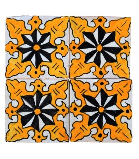 Al-Andalus - 10 cm - several designs - handcrafted tile - model 22