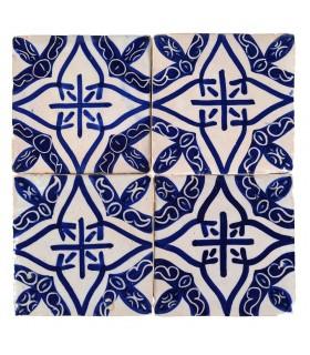Al-Andalus - piastrelle artigianali di 10cm - parecchi disegni - - modello 23