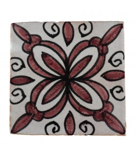 Al-Andalus - 10 cm - several designs - handcrafted tile - 24 model