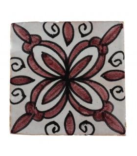 Tuile de Al-Andalus - 10 cm - plusieurs motifs - artisanales - modèle 24