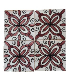 Al-Andalus - 10 cm - several designs - handcrafted tile - 24 model