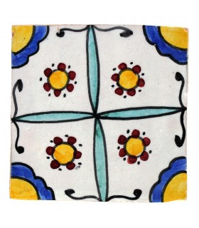 Al-Andalus - 10 cm - several designs - handcrafted tile - model 25