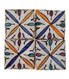Al-Andalus - carreaux faits à la main 10 cm - plusieurs motifs - - modèle 26