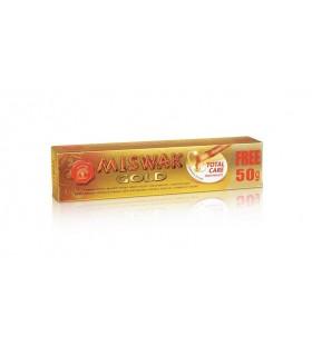 Dentífrico Natural Miswak Cuidado Total Edición Oro - (Salvadora Pérsica) - 120+50 gr Gratis - LIMITADO